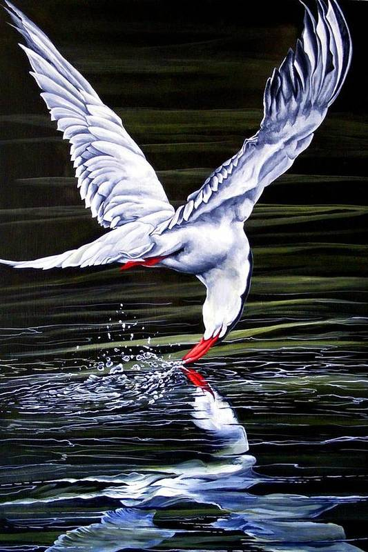 Bird Art Print featuring the painting Poetic Motion by Donald Dean