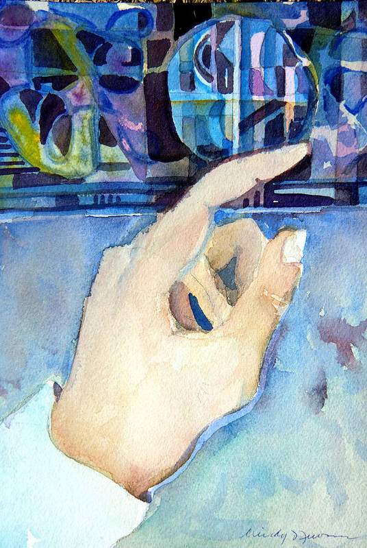 Hand Art Print featuring the painting Pointing The Way by Mindy Newman