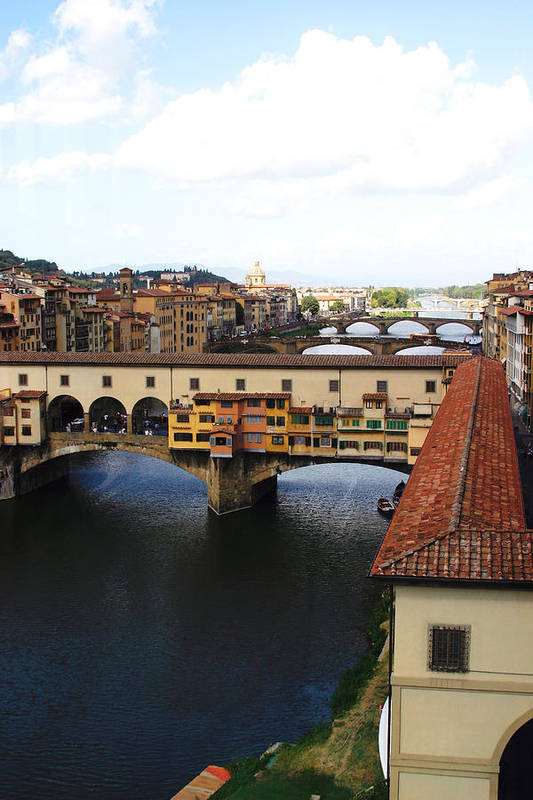 Florence Art Print featuring the photograph Ponte Vechio Florence by Mathew Lodge