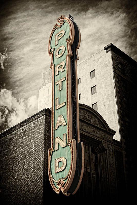 Portland Print featuring the photograph Portland Marquis by Danielle Denham
