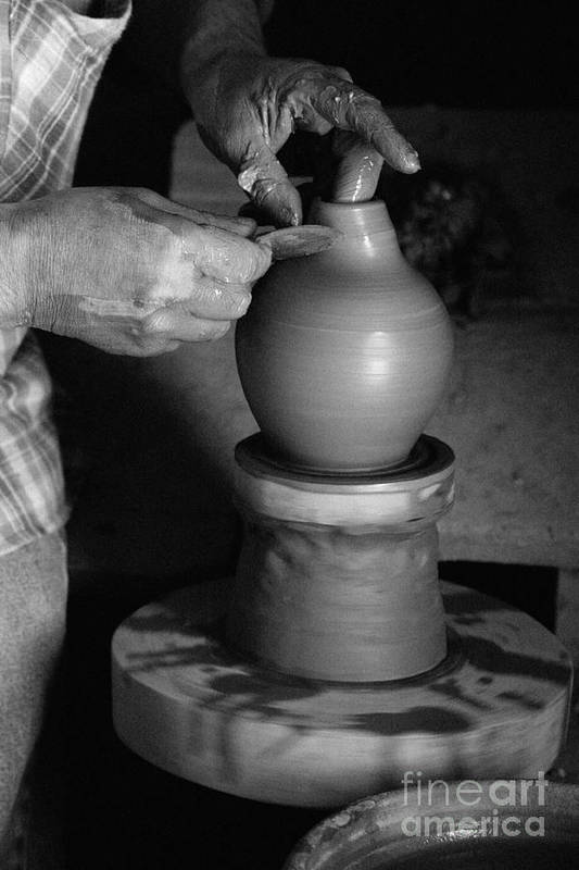 Azores Art Print featuring the photograph Potter At Work by Gaspar Avila