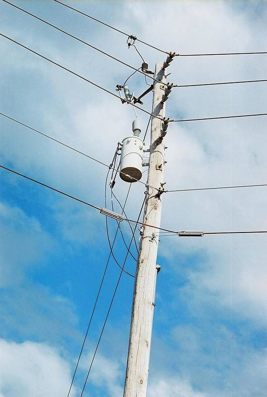 Power Line Art Print featuring the photograph Power Line Boogie Woogie by Jennifer Trone