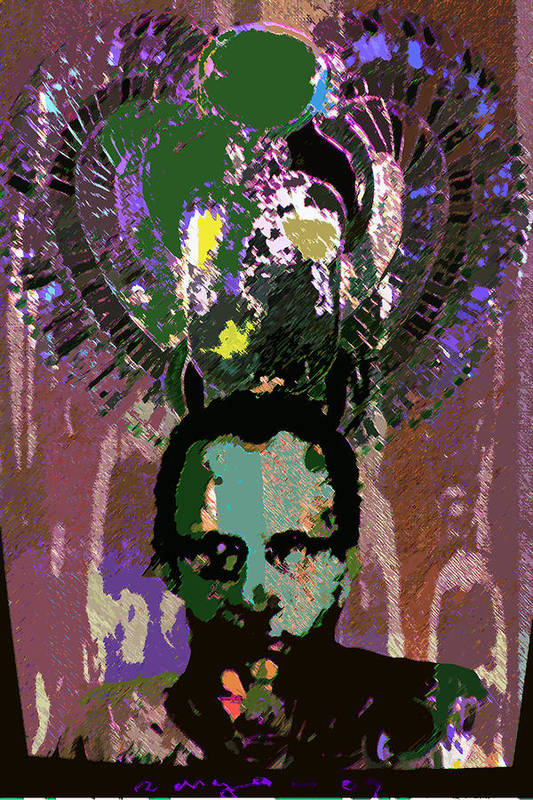 Self Portrait Art Print featuring the drawing Prince Of The Nile 2 by Noredin Morgan