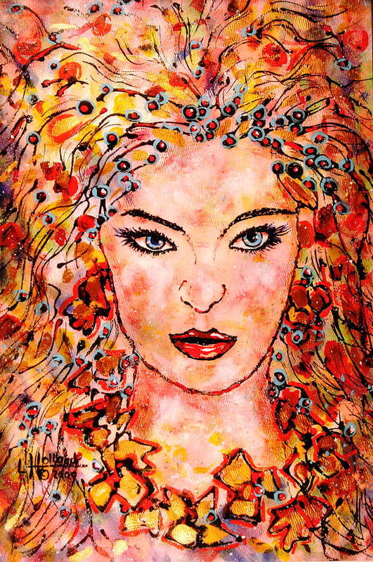 Woman Art Print featuring the painting Princess Of The Universe by Leonard Holland
