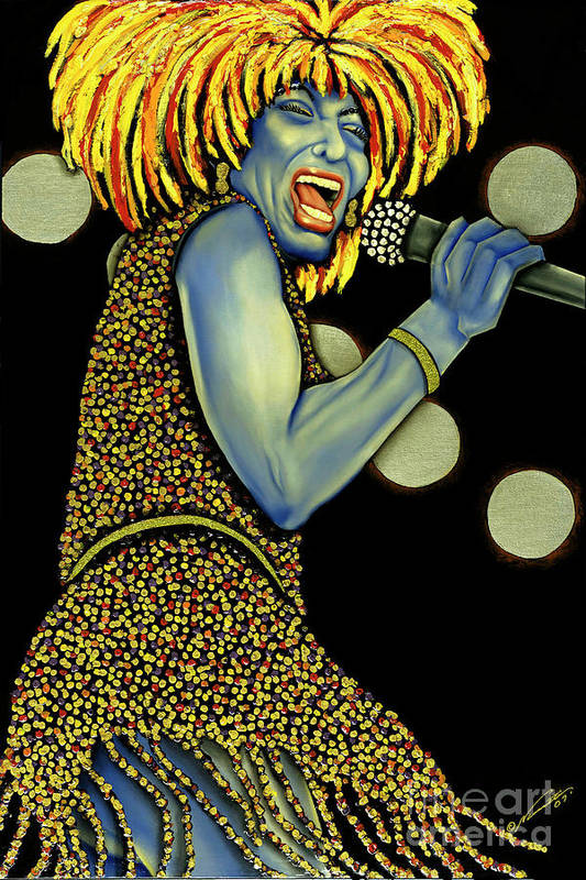 Portrait Art Print featuring the painting private Dancer by Nannette Harris