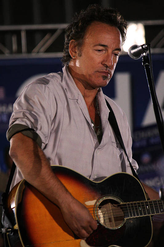 Bruce Springsteen Art Print featuring the photograph Promised Land by Brian M Lumley