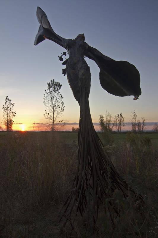 Public Art Art Print featuring the photograph Public Art At Sun Rise by Sven Brogren