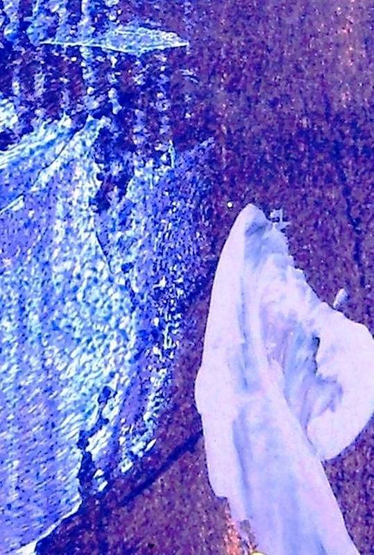 White Art Print featuring the painting Purple Specteral by Bruce Combs - REACH BEYOND