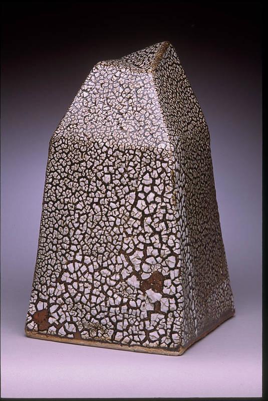 Lichen Glaze Art Print featuring the sculpture Pyramidal Form by Stephen Hawks