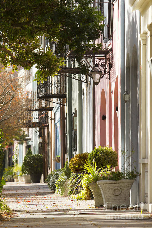 Rainbow row charleston sc 2 art print by dustin k ryan for T shirt printing charleston sc