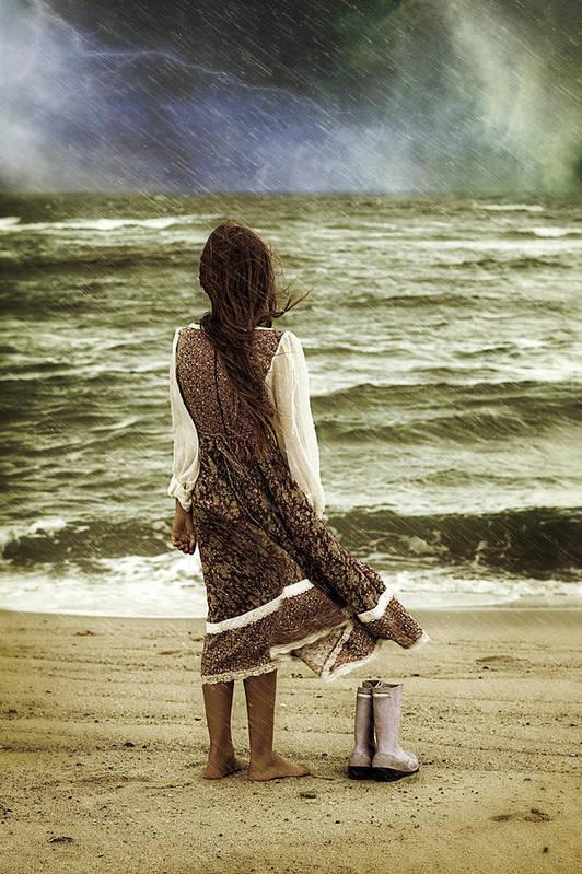 Female Art Print featuring the photograph Rainy Day by Joana Kruse