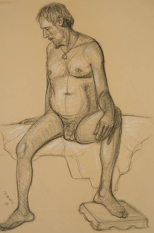 Realism Art Print featuring the drawing Randy 4 by Donelli DiMaria