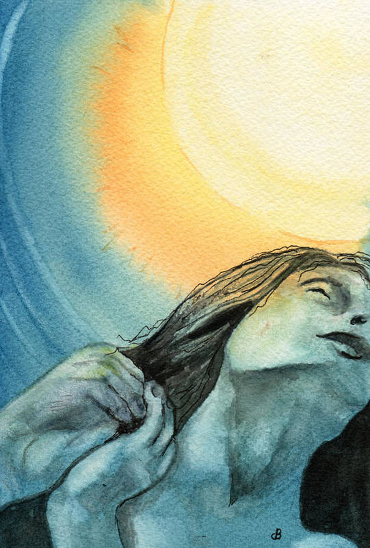 Watercolor Art Print featuring the painting Rapture by Brenda Owen