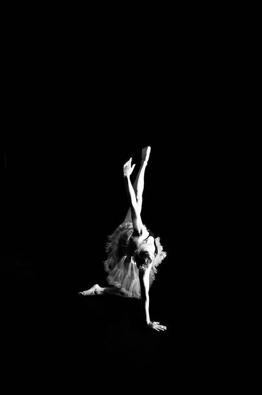 Ballerina Art Print featuring the photograph Reaching Ballerina by Scott Sawyer