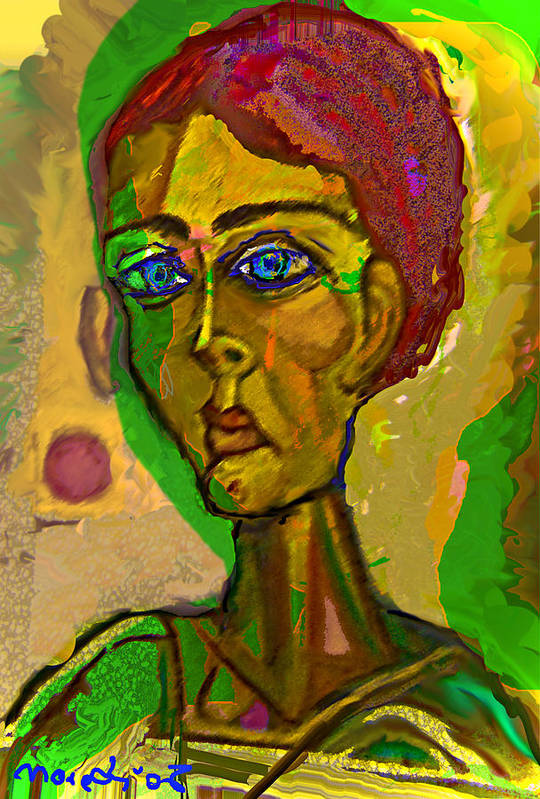 Red Art Print featuring the painting Red Blue And Green by Noredin Morgan