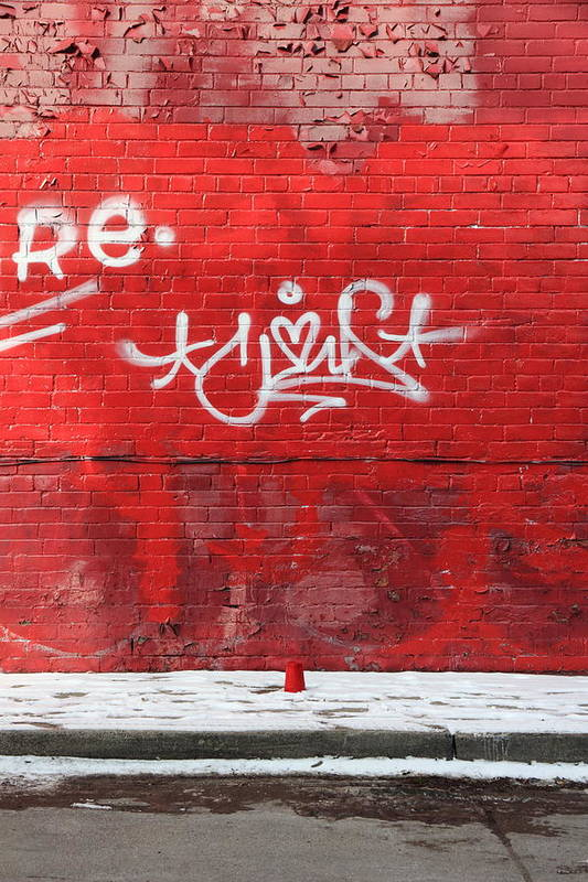 Red Art Print featuring the photograph Red Cup Red Wall by Kreddible Trout
