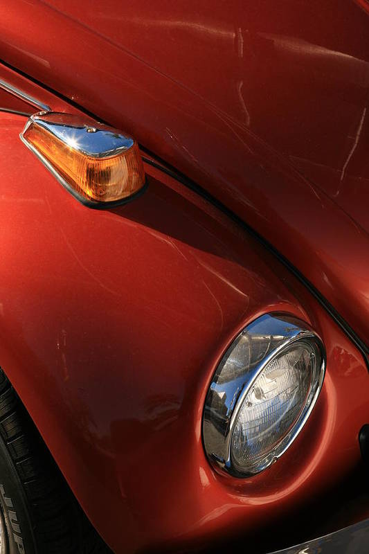 Vw Art Print featuring the photograph Red Vw by Carl Hinkle