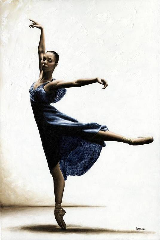 Dancer Art Print featuring the painting Refined Grace by Richard Young