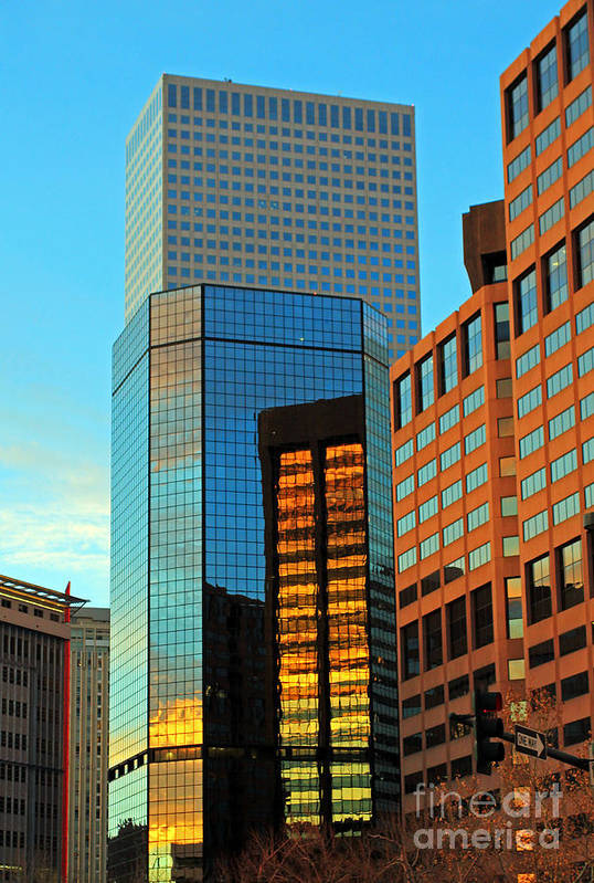 Cities Art Print featuring the photograph Reflections Of Denver by Jennifer Robin