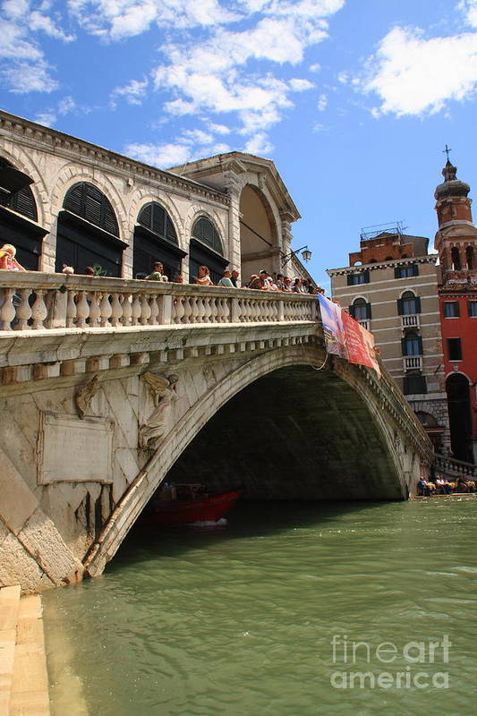 Venice Art Print featuring the photograph Rialto Bridge In Venice by Michael Henderson