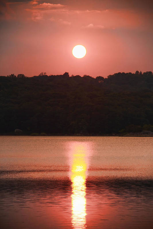 Sunset Art Print featuring the photograph Ripples Of Sunset by Daphne Sampson