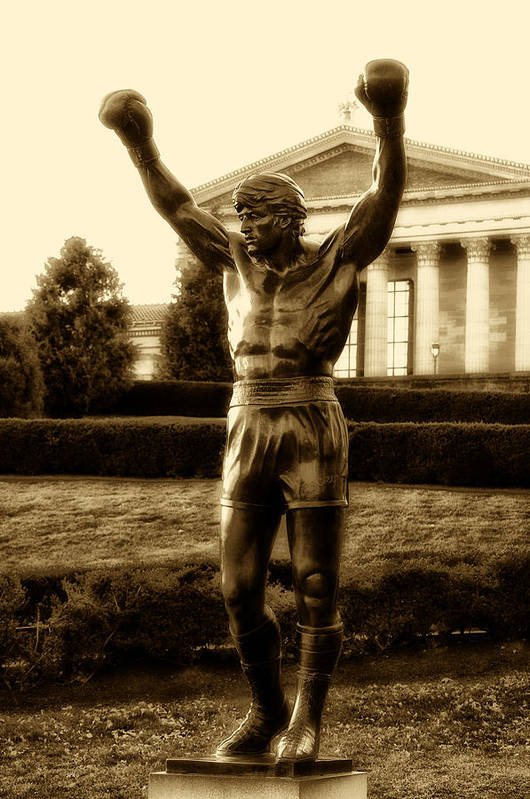 Sports Art Print featuring the photograph Rocky - Heart Of A Champion by Bill Cannon
