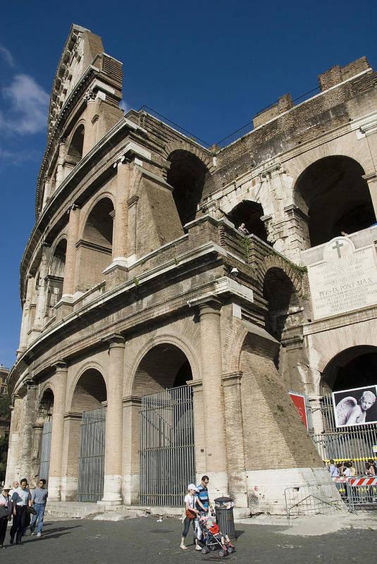 Coliseum Art Print featuring the photograph Roman Coliseum by Charles Ridgway