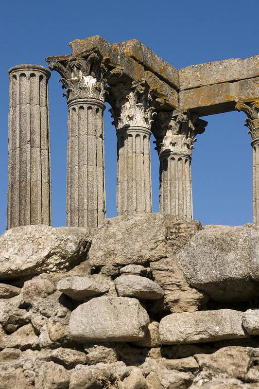 Roman Ruins Art Print featuring the photograph Roman Columns by Jan Kapoor