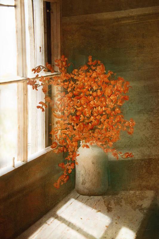 Rustic Art Print featuring the digital art Rustic Bouquet by Ramona Murdock