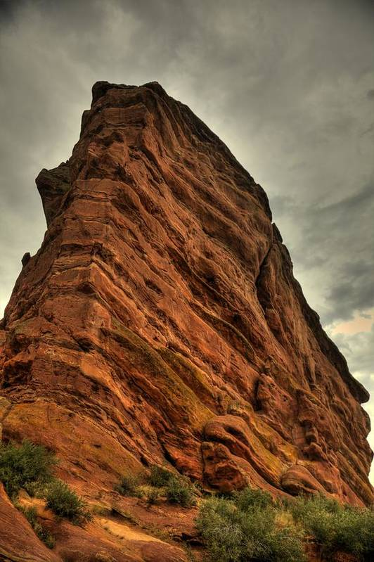 Red Rocks Amphitheater Art Print featuring the photograph Sail Rock by Patrick Flynn