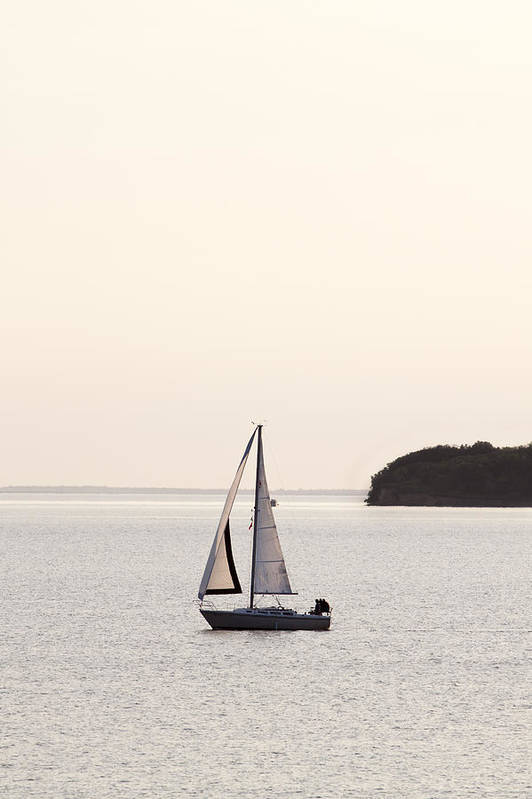 Sail Boat Art Print featuring the photograph Sailing by Patrick Ziegler