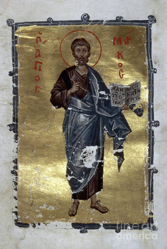 13th Century Print featuring the painting Saint Mark by Granger