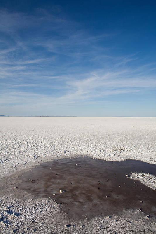 U.s.a. Art Print featuring the photograph Salt Flats by Luigi Barbano BARBANO LLC