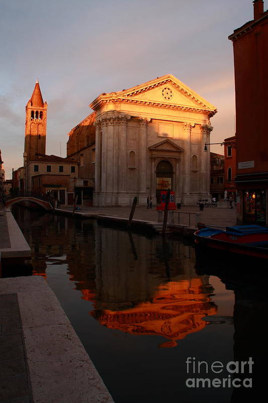 Venikce Art Print featuring the photograph San Barnaba by Michael Henderson