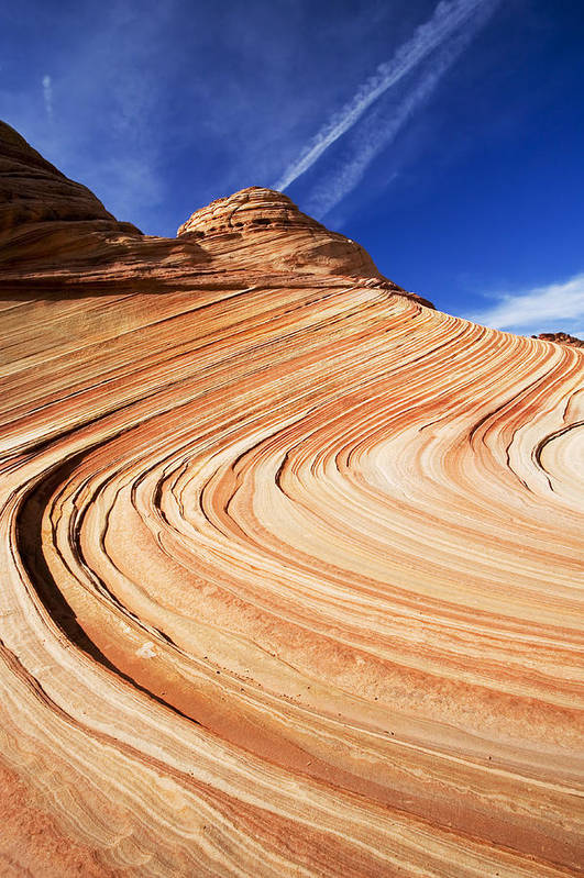The Wave Art Print featuring the photograph Sandstone Slide by Mike Dawson