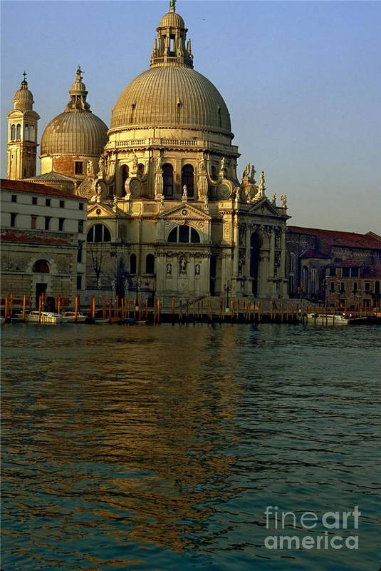 Venice Art Print featuring the photograph Santa Maria Della Salute In Venice In Morning Light by Michael Henderson