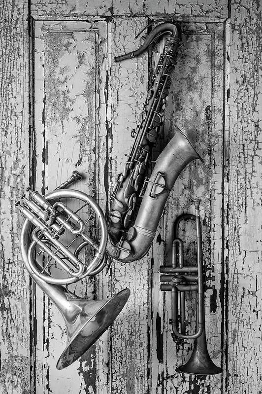 Sax Art Print featuring the photograph Sax French Horn And Trumpet by Garry Gay