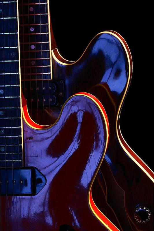 Guitar Art Print featuring the photograph Screaming Guitars by Art Ferrier