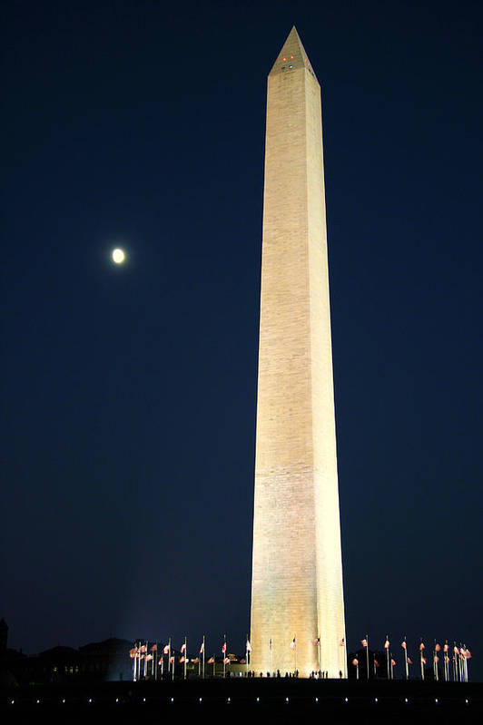 Moon Art Print featuring the photograph Sculpture by Mitch Cat