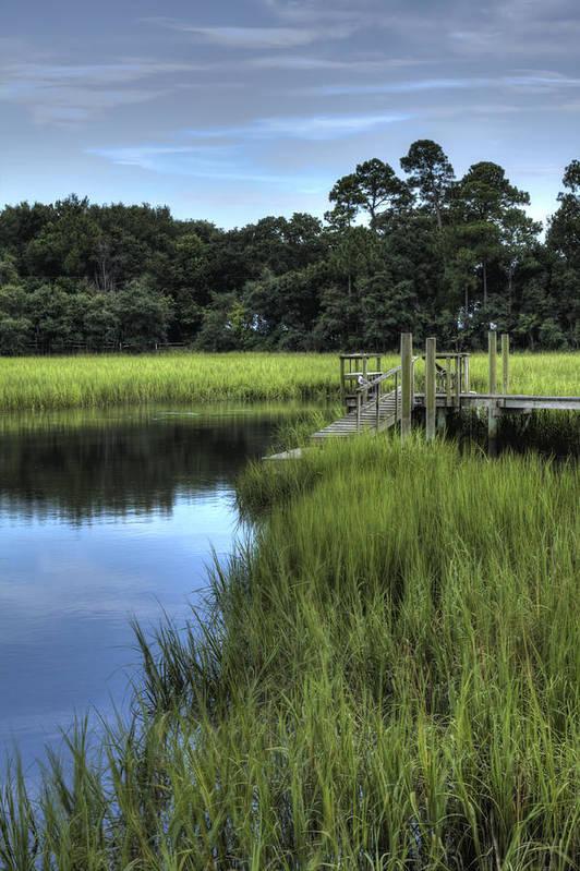 Landscape Art Print featuring the photograph Seaside Creek Fort Lamar Battle Of Secessionville by Dustin K Ryan