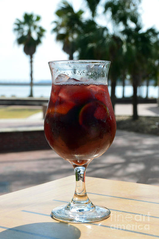 Sangria Art Print featuring the photograph Seaside Sangria by Catherine Sherman