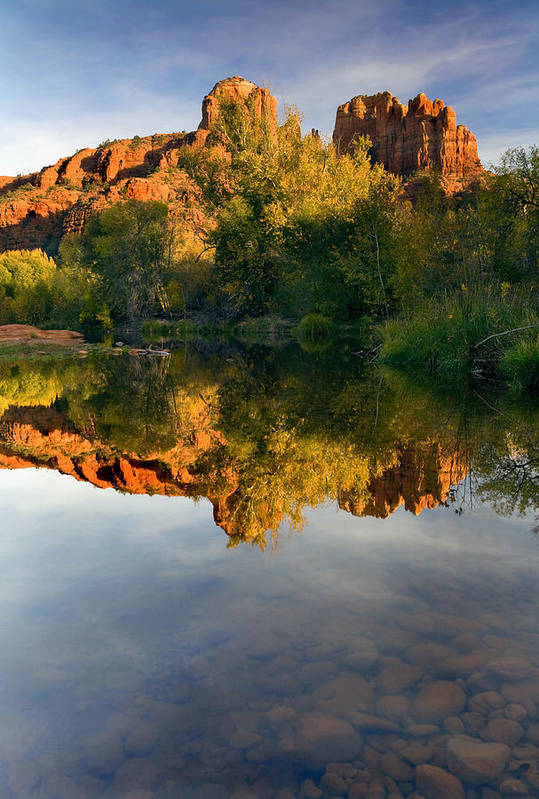 Reflection Print featuring the photograph Sedona Sunset by Mike Dawson