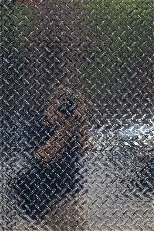 Abstract Art Print featuring the photograph Self Portrait In Steel by Robert Ullmann