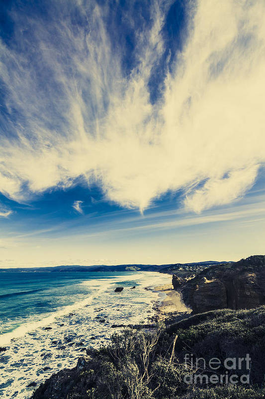 Victoria Art Print featuring the photograph Serene Victoria Coastline by Jorgo Photography - Wall Art Gallery