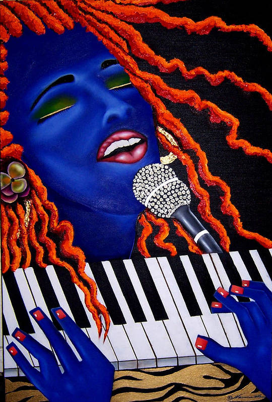 Portrait Art Print featuring the painting She's Magic by Nannette Harris