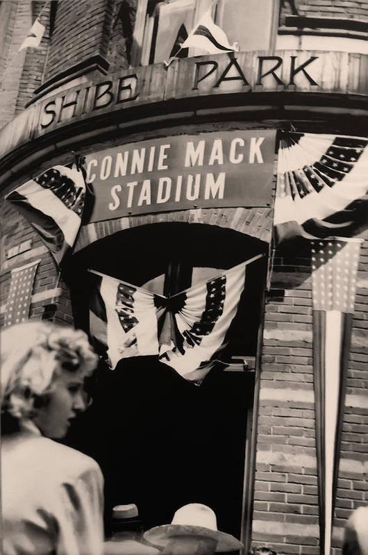 Shibe Park - Connie Mack Stadium Art Print featuring the photograph Shibe Park - Connie Mack Stadium by Bill Cannon