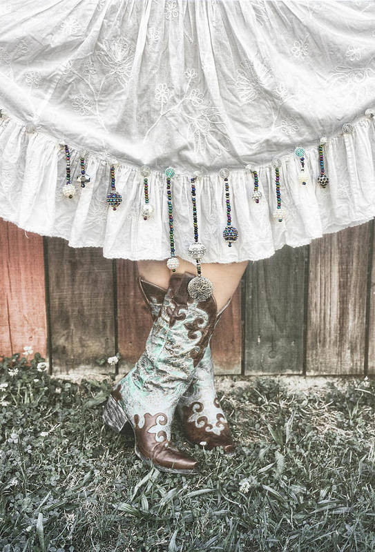 Sharon Popek Art Print featuring the photograph Skirts And Dangles by Sharon Popek