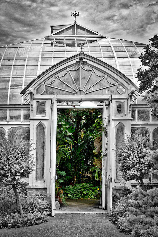 Smith College Art Print featuring the photograph Smith College Greenhouse by Stuart Litoff