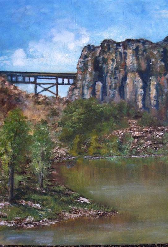 Landscape Art Print featuring the painting S.o.b Caynon by Darla Joy Johnson