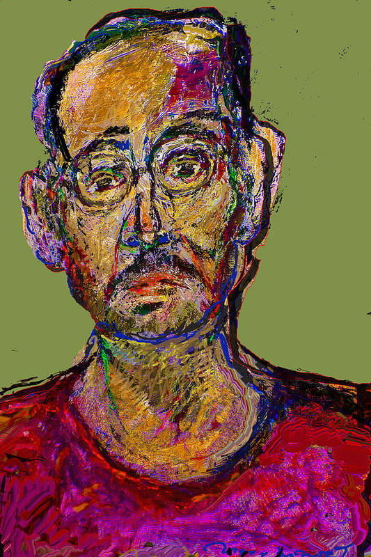 Self Portrait Art Print featuring the painting Sp200508 by Noredin Morgan